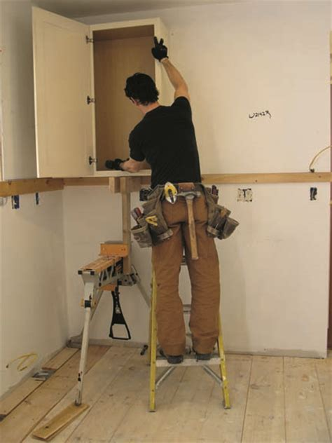 how to install upper cabinets how to install kitchen cabinets old house online old