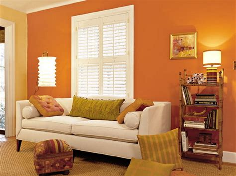 orange color shades for small walls home combo