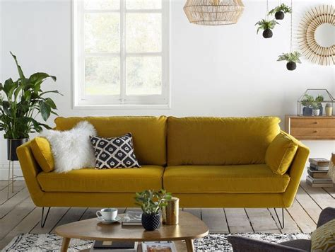 canape cuir jaune 20 fauteuils et canapés jaunes pour le salon canapé