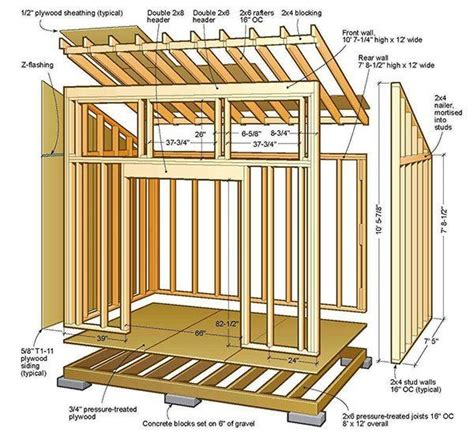 8x8 slant roof shed plans top 25 best lean to shed ideas on lean to