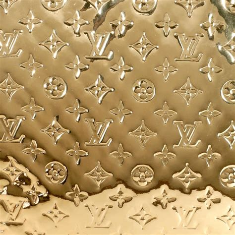 louis vuitton gold limited edition miroir monogram sac plat tote  stdibs