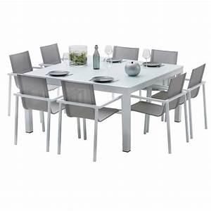 Ensemble Table Chaise Jardin : ensemble table et chaises de jardin extensibles carre ~ Mglfilm.com Idées de Décoration