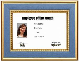 free custom employee of the month certificate With employee of the month certificate template with picture