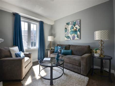Orange Blue And Grey Living Room