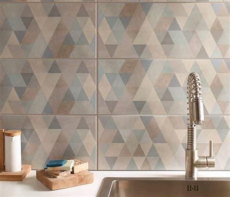 castorama faience cuisine graphique et minimaliste le carrelage mural à motifs losanges les murs de la cuisine et
