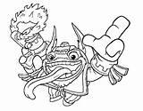 Trigger Dare Double Colorear Dibujo Coloring Skylanders Dibujos Template sketch template