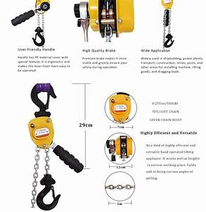 550lbs 5ft Manual Chain Hoist China Standard Hoist