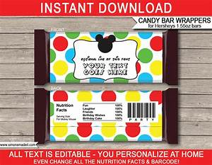 mickey mouse hershey candy bar wrappers personalized With custom candy wrappers templates