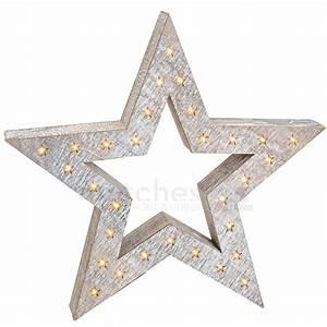 Led Stern Weihnachten : weihnachtlicher leuchtstern weihnachtsdeko holz stern led beleuchtung 52x8 cm kaufen matches21 ~ Frokenaadalensverden.com Haus und Dekorationen