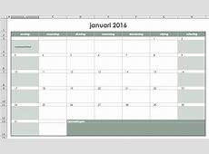 Agenda, kalender, weekrooster en weekplanning maken in Excel