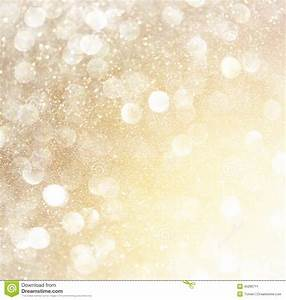 White Silver And Gold Abstract Bokeh Lights. Defocused ...