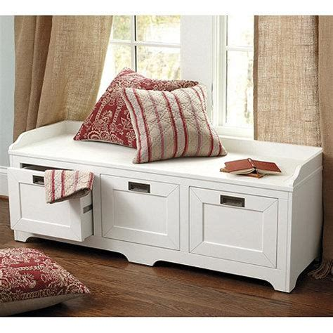 white storage bench lonny storage bench in white