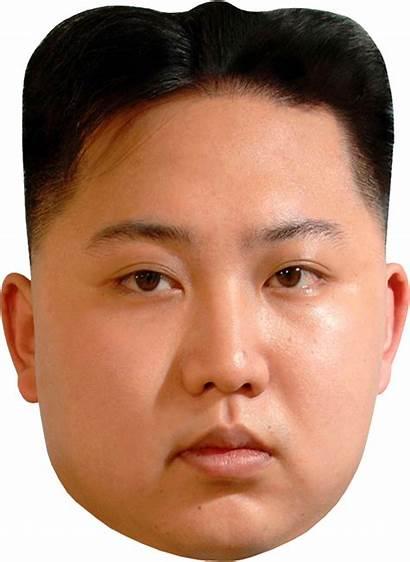 Kim Jong Face Transparent Mask Celebrity North
