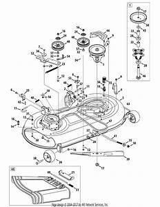 Mtd Yt4220se  13ap93ks897   2014   13ap93ks897  2014  Parts Diagram For Mower Deck 42