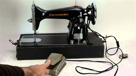 sears commander sewing machine model   youtube