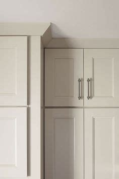 molding on top of kitchen cabinets crown molding pairs well with shaker style cabinetry 9777