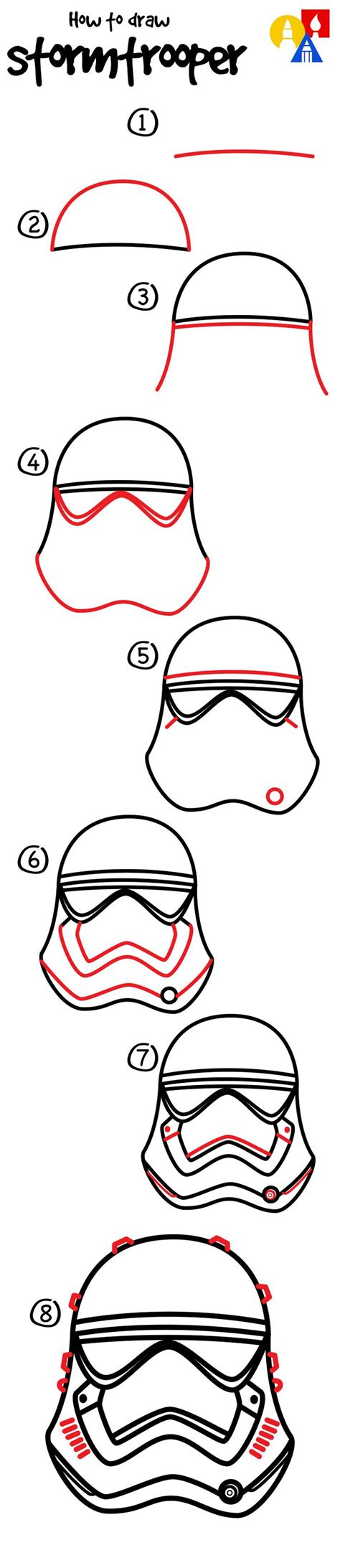 How To Draw A Boat Art Hub by How To Draw A First Order Storm Trooper Helmet Art For