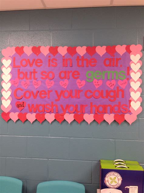 valentines day clinic bulletin board school nurse