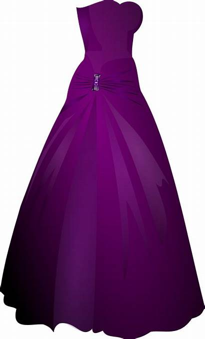 Gown Purple Clipart Robe Clip Celebration Kleid