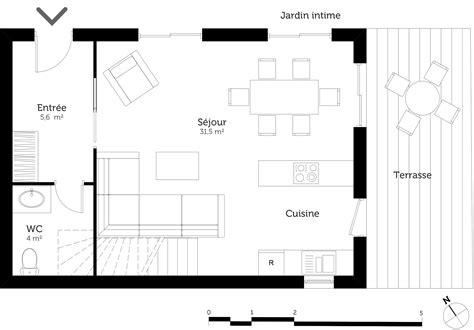 plan cuisine ouverte salle manger plan de cuisine ouverte sur salle manger stunning awesome