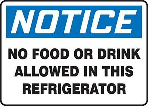 Accuform Signs Mgs109 Magnetic Vinyl Refrigerator Sign
