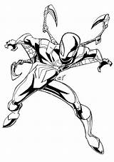 Coloring Spider Pages Iron Heroes Seven Features sketch template