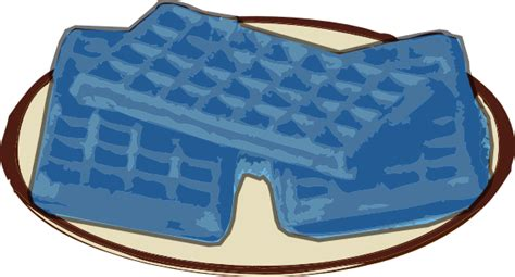 blue colored waffle waffle clipart pencil and in color waffle clipart