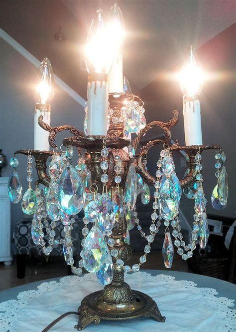 antique brass candelabra chandelier table lamp  aurora