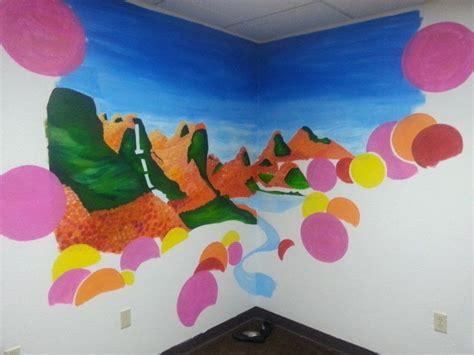 modern lorax forest mural wallpaper  wall painting