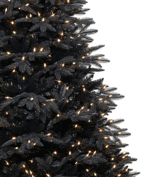 black and christmas tree midnight black christmas tree treetopia