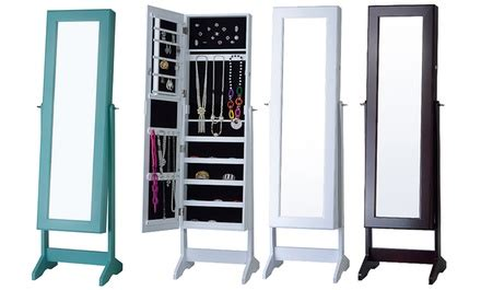 kitchen cabinets deals up to 71 on free standing jewelry armoires groupon 2957