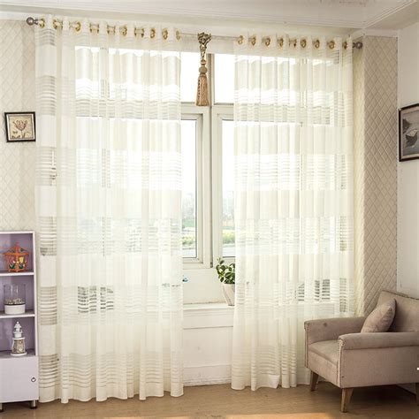 top finel modern white tulle for window curtain sheer