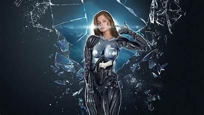 Waffen Hintergrundbilder Glasscherben Herunterladen Cyborg Dchen Ma