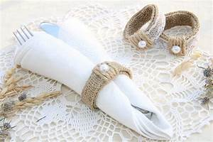 burlap wedding napkin rings rustic wedding decor by With wedding napkin rings ideas