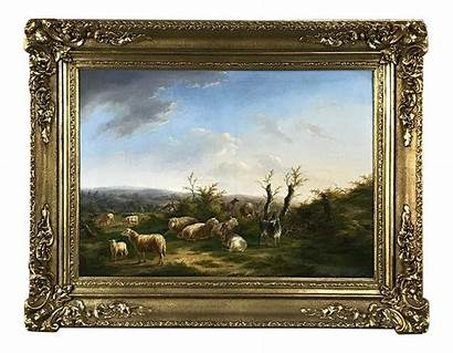Oil Painting Framed Canvas Antique Painted 19th