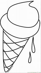 Ice Cream Cone Coloring Page - Coloring Home