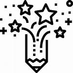 Creativity Icon Icons Pencil Branding Idea Stars
