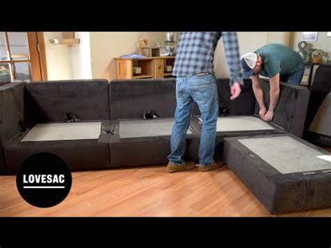 Lovesac Modular Furniture by Lovesac Modular Furniture Assembly Tips Tricks Review