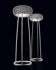 Modern decor living room crystal ball floor lamp modern for Living belize 3 light floor lamp
