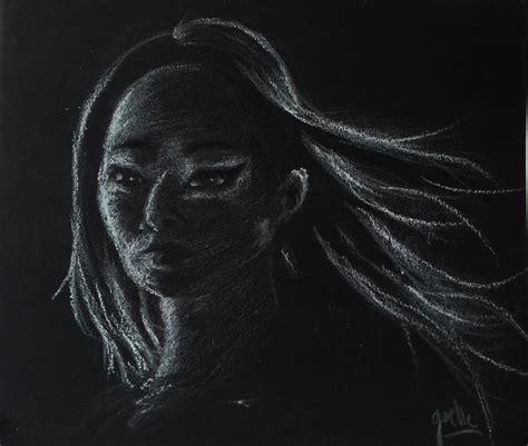 Dessin Sur Papier Noir Dessin Sur Papier Noir Crayons Pinceaux