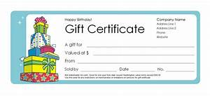 birthday gift certificate template professional and high With birthday gift certificate template free download