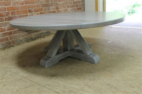 white washed coffee table  pedestal