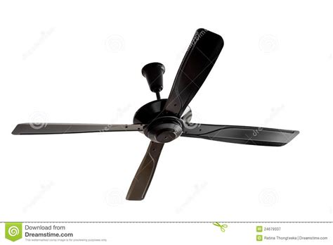 Four Blades Black Ceiling Fan Royalty Free Stock