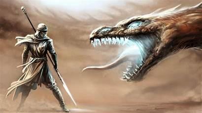 Dragon Fantasy Warrior Desktop Wallpapers Backgrounds Mobile
