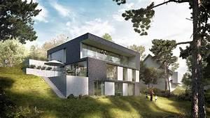 Einfamilienhaus Hanglage Planen : zweib architekt neuweiler haus hanglage modern ~ Lizthompson.info Haus und Dekorationen
