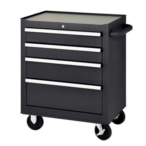 Kitchen Cabinet Organization Ideas - mbi 27 in 4 drawer mobile tool chest black mmb27 4s the home depot