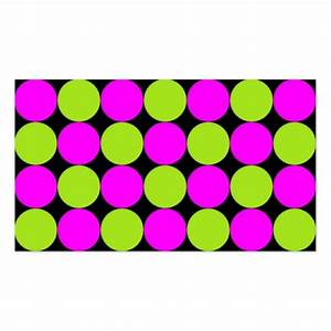 Hot Pink & Lime Green Polka Dots Business Card | Zazzle