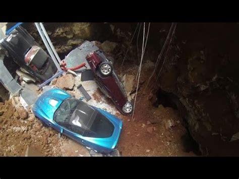 drone footage   corvette museum sinkhole youtube