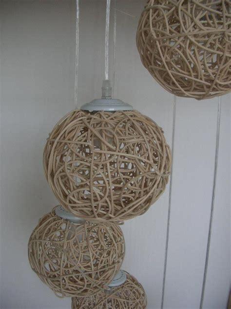 light natural rattan woven ball stair pendant light