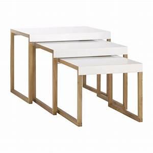 Table Gigogne Maison Du Monde : kilo tables d 39 appoint blanc bois m tal habitat ~ Teatrodelosmanantiales.com Idées de Décoration